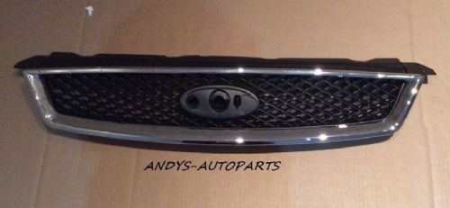 FORD FOCUS 05 ONWARDS FRONT  GRILLE WITH CHROME SURROUND